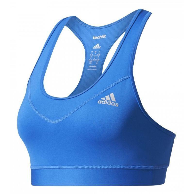 Funkční oblečení - Sportovní podprsenka Adidas TechFit Bra světlo modrá