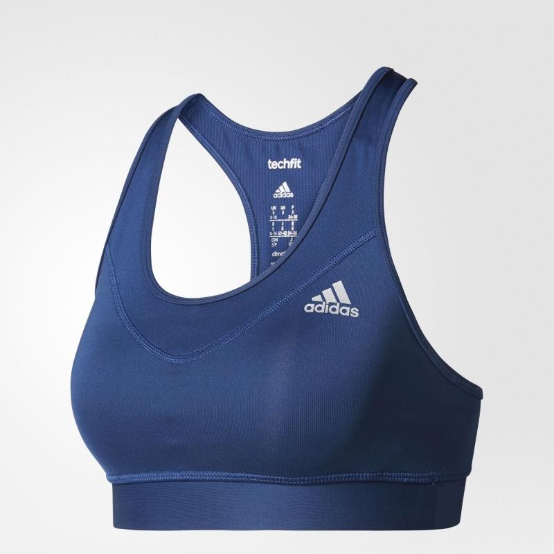 Funkční oblečení - Sportovní podprsenka Adidas TechFit Bra tmavě modrá
