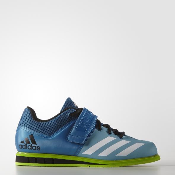 Vzpírání - Adidas Powerlift.3 modrá/zelená AQ3331