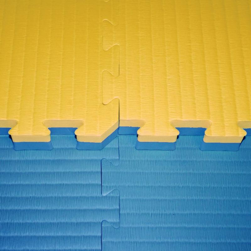 Tatami a žíněnky - Tatami Judo dvouvrstvé - 4 cm - modrá/žlutá