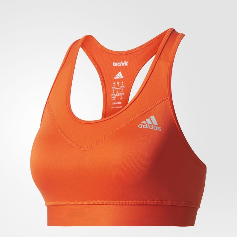 Funkční oblečení - Sportovní podprsenka Adidas TechFit Bra oranžová