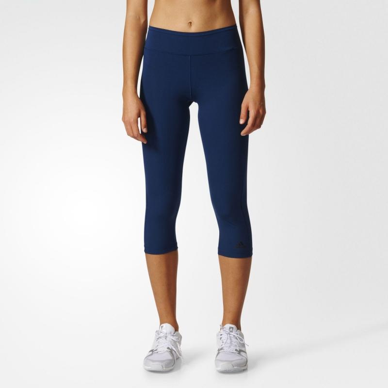 Funkční oblečení - Legíny Adidas WO tights 3 4 tmavě modré 0148121173