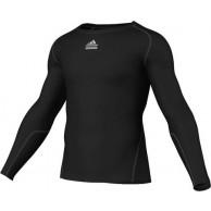 Tričko Adidas TechFit - dlouhý rukáv - černé