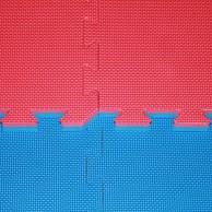 Tatami Cross - 2,5 cm - modrá/červená