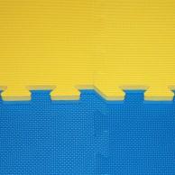 Tatami Cross - 2,5 cm- modrá/žlutá