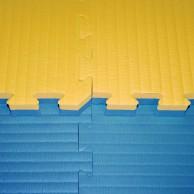 Tatami Judo dvouvrstvé - 4 cm - modrá/žlutá