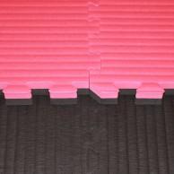 Tatami Judo dvouvrstvé - 4 cm - červená/černá