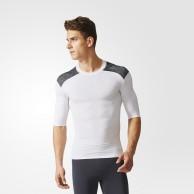 Tričko Adidas TechFit Base SS - krátký rukáv - bílé