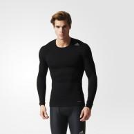 Tričko Adidas TechFit Base - dlouhý rukáv - černé